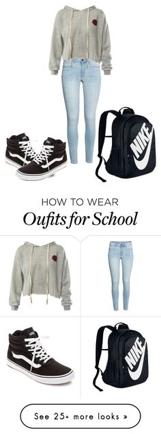 """""""School outfit [#20]"""" by gglovesu on Polyvore featuring Sans Souci, Vans and NIKE"""