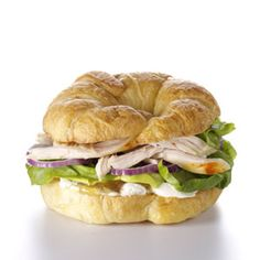 Chutney Chicken Croissants Recipe -The complex flavors of the chutney perfectly complement the cream cheese in this unique sandwich. It's a great way to use leftover chicken, and it's pretty enough for a special occasion like a shower.—Jane Ingraham, San Marcos, California