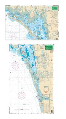 WaterProof Navigation Charts with Large Print - Florida - Cape Coral Canal - Model 7E