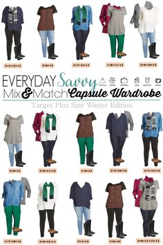 171235ef43277c Looking for a fun winter plus size capsule wardrobe  Check out this one with  15 mix and match items from Target women s clothes line of Ava and Viv.
