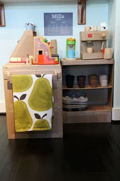 A coffee shop. | 31 Things You Can Make With A Cardboard Box That Will Blow Your Kids' Minds