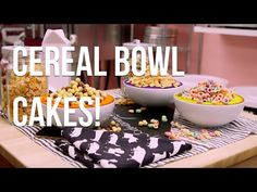 How To Cake… FROSTED CAKES - Vibrantly coloured vanilla cakes, filled with your favourite cereal! - YouTube