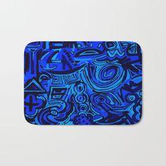 Blue symbols Bath Mat