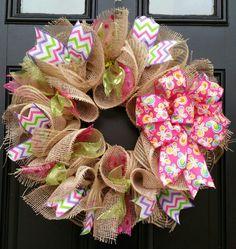 Spring Wreath Summer Wreath Butterfly Wreath by WreathsByRobyn