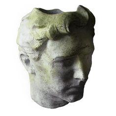 Greek Head Bust Garden Planter-Art Sculpture by Orlandi Statuary Large Garden Planters, Stone Planters, Head Planters, Planter Garden, Balcony Garden, Concrete Sculpture, Sculpture Art, Steampunk Design, Weights
