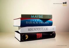 Book jackets as an ad.