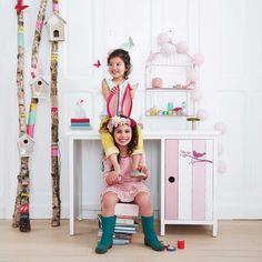 Bureau enfant rose et blanc   Maisons du Monde