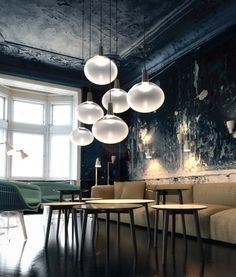 Love love love these designer LED pendant lights - how fabulous they look!