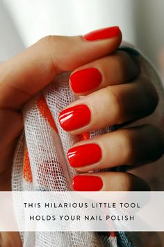 This Hilarious Little Tool Holds Your Nail Polish via @PureWow