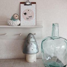 Heico silver toadstool lamp poche.buyshop.jp