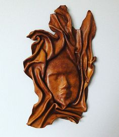Leather shaped face wall art #minesbetterthenyours #jodi&riasmix #jarmix #hone #leathercraft #leather #art #leatherworks #leatherhead… Leather Art, Home Collections, Jar, Leaves, Wall Art, Abstract, Artwork, Instagram, Summary