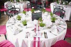 Préparatifs mariage thème plage : rose, fuschia, blanc