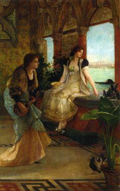 """Venetian Beauties"" by Vicente Palmaroli y Gonzalez (1834-1896)."