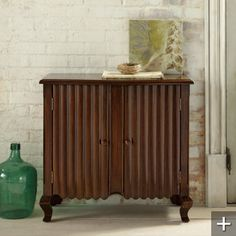 With its distinctive blend of refined and sculpted surfaces, together with rich color saturation, this chest is sure to attract attention wherever it goes. Expertly handcrafted with rich tonalities achieved through a multi-step finish process.