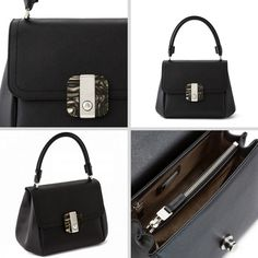 Serapian Milano Large Gina Bag In Black Leather Avialable At Betty Hemmings Leathergoods