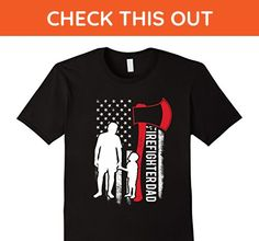 Mens Firefighter Dad Flags-Father Day 2017 T-Shirt 2XL Black - Careers professions shirts (*Amazon Partner-Link)