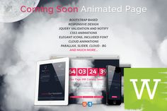 Clouds Animated Coming Soon Page by Wordica on Creative Market