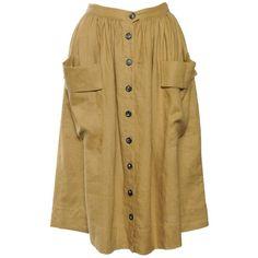 Linen Carmen Skirt (60 AUD) ❤ liked on Polyvore featuring skirts, bottoms, faldas, button up skirt, long skirts, linen skirt, long linen skirt and pleated skirts