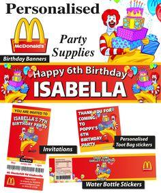 69 Best Mcdonalds Party Images Mcdonalds Birthday Party Birthday