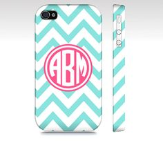 Personalized Blue Chevron Monogram  Premium Slim Fit by SuprCases, $29.95
