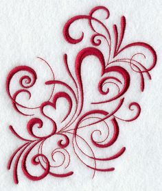 Inky Hearts  Machine embroidery at Embroidery Library, would make pretty tattoo