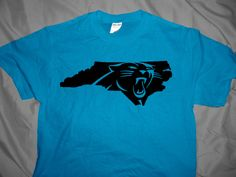 Carolina Panthers North State Design Unisex T-shirt by JSDesignsandGraphics  on Etsy https   6ad47da6e