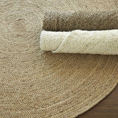 Round Braided Jute Rug - Drift, Natural or Bleached $149 to $299