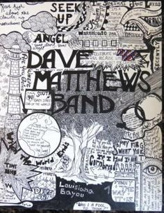 Check out this Dave Matthews Band artwork drawn freehand by Aniyah Popovich.