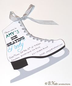 Free Printable Ice Skating Party Invitation from B.Nute productions Remember that nifty printable Ice Skate coloring page post from a co...