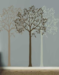 Large Fruit Tree Stencil Reusable Wall by CuttingEdgeStencils