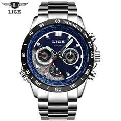 US $219.90 - Reloj Hombre 2016 LIGE Brand Men's Fashion Casual Sport Watches Men Waterproof Quartz Watch Man military Clock Relogio Masculino