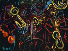 Tremé | Treme Brass Band Painted by Frency at Maple Leaf Bar | FrenchyLive ...