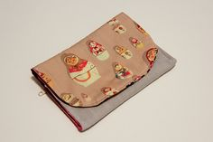 Snap wallet with zipper pouch tutorial. Great for parking money and tickets!