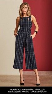 Macacão Xadrez Pantacourt Recortes Hot Weather Outfits, Trendy Summer Outfits, Jumpsuit Outfit, Dress Outfits, Cute Outfits, Jumpsuits For Girls, Long Jumpsuits, Fashion Pants, Fashion Outfits
