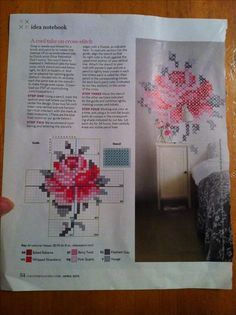 Discover thousands of images about X Stitch. Peg board+yarn= pretty easy actually! Cross Stitching, Cross Stitch Embroidery, Embroidery Patterns, Cross Stitch Patterns, Embroidery Thread, Sewing Crafts, Sewing Projects, Craft Projects, Cross Stitch Rose