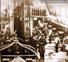 Fotografías Históricas de La Guerra del Pacifico 1879 _ 1884 CUBIERTA DE LA ESMERALDA EN 1879
