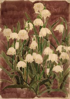 wasbella102:  Lily of the Valley, ca.  1925: Edna Boies Hopkins  Morning one and all :) Have a great Monday, It will soon be the weekend lol...