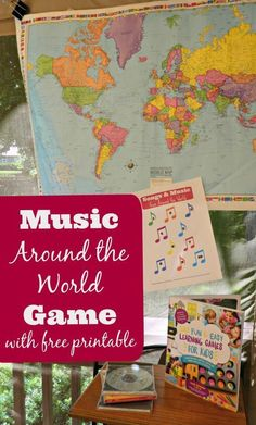 Fun musical game for kids! Learn about geography and songs from around the world #violinforkids #violinlessonsforkids