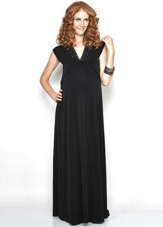 Relaxed flowing maxi dress for a stylish summer #pregnancy $108.95 #maternitydress #stylishpregnancy