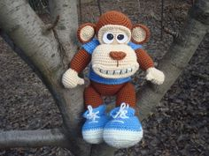 monkey toy,  Crochet monkey,  Soft acrylic toy,  Symbol of the Year, animal doll,  Christmas 2016 Gift,  funny gift for friends, xmas gift,