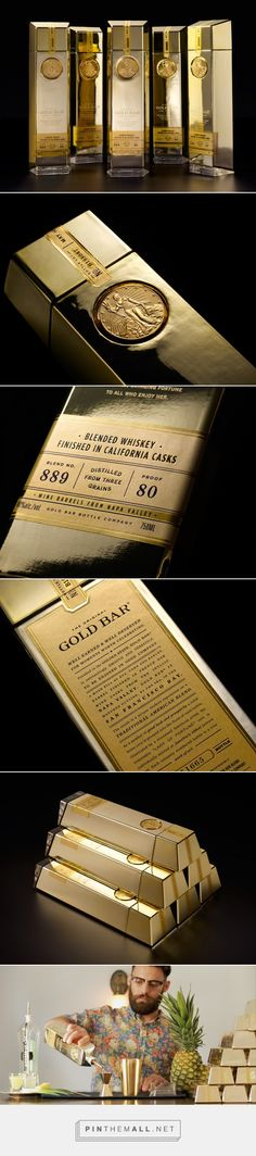 Gold Bar Whiskey packaging design by Chad Michael Studio - http://www.packagingoftheworld.com/2017/06/gold-bar-whiskey.html - created via https://pinthemall.net