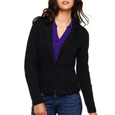 a.n.a® Knit Blazer – Plus - jcpenney @Heather DeJong-Cull in black or pink on clearance for $8.