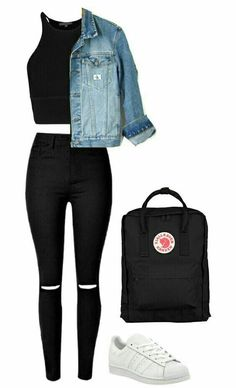 Cute Teen Outfits, Cute Comfy Outfits, Teenager Outfits, Swag Outfits, Stylish Outfits, Teenage Girl Outfits, Vest Outfits, Kpop Outfits, Girls Fashion Clothes