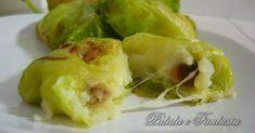 Involtini di verza con patate e cuore filante - Patata e Fantasia: ricette facili e veloci con le patate   ricette dall'antipasto al dolce con le patate