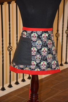 Check out Sugar Skull Waiter Apron on deezignz