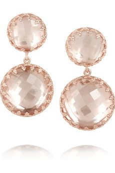 ARKSPUR & HAWK Olivia Small rose gold-dipped topaz earrings $1,400