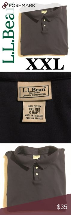 Sz XXL L.L. Bean Navy Polo Brand new with out tags.  It's navy, I can't seem to get a good picture of it.  I'm actually thinking about just returning it, but it's like an hour away! My Dad only wore it once.  100% Cotton and it is soooooo soft. Excellent condition.  Super flexible with bundles!  Lots of XXL clothes in my Posh closet!  Thanks! L.L. Bean Shirts Polos