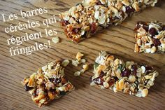 DIY barres céréales maison Healthy Bars, Healthy Cooking, Healthy Snacks, Healthy Recipes, Vegan Granola, Biscuit Cookies, Best Dishes, Smoothie Bowl, Brunch