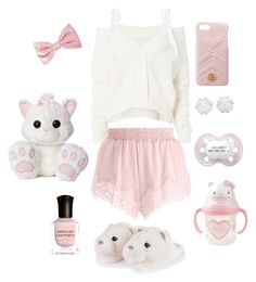 """Little Outfit 23 (DDLG)"" by babydoll-devil17 ❤ liked on Polyvore featuring Adeam, Puma, Deborah Lippmann, Chanel, Gucci, Hello Kitty, little, ddlg and cgl"