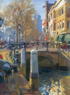 Urban Painting, Light Painting, Painting & Drawing, Urban Landscape, Landscape Art, Landscape Paintings, Impressionist Paintings, Impressionism, Oil Paintings